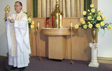Father Ed Gretchko in Shrine Chapel